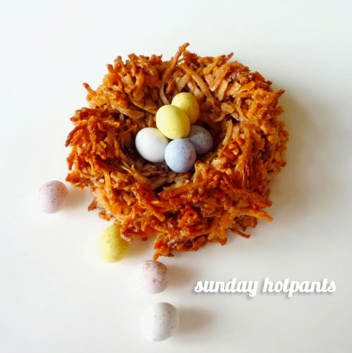 FoodieCrush Sunday Hotpants Chocolate Coconut Macaroons
