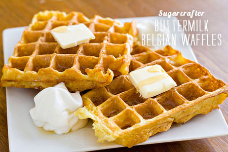 FoodieCrush magazine Buttermilk Belgian Waffles