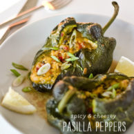 Stuffed Pasilla Peppers Recipe for Cinco De Mayo
