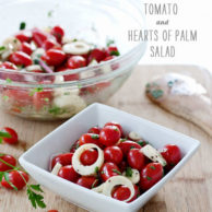 Cherry Tomato and Hearts of Palm Salad + Giveaway Winner