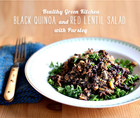 FoodieCrush magazine Health Green Kitchen Black Quinoa Salad