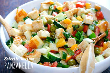 FoodieCrush magazine Eclectic Recipes Panzanella