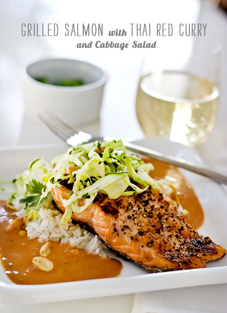 FoodieCrush Magazine Thai Red Curry Salmon