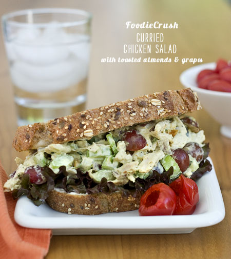 FoodieCrush Magazine Curried Chicken Salad