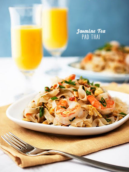 FoodieCrush Magazine Jasmine Tea Pad Thai