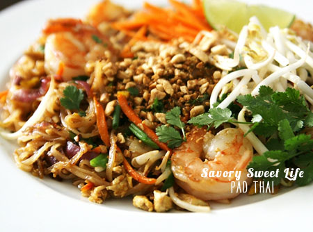 FoodieCrush Magazine Savory Sweet Life Pad Thai