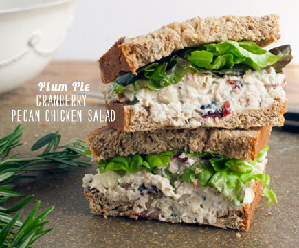 FoodieCrush Magazine Plum Pie Chicken Salad Sandwich