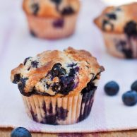 Gwyneth's Blueberry Muffins foodiecrush.com