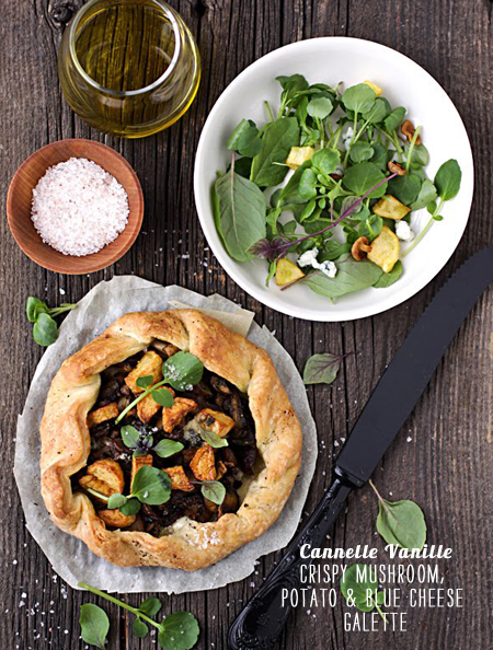 FoodieCrush Magazine Canelle Vanille Mushroom Galette