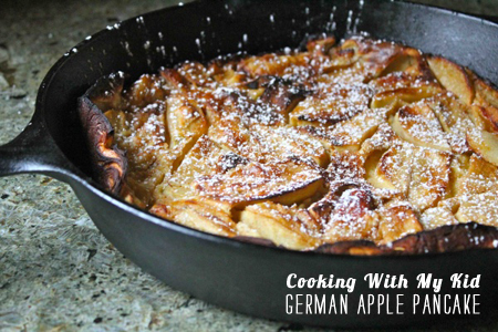 FoodieCrush Magazine Cooking With My Kid German Apple Pancake