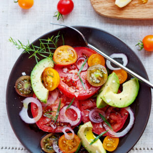 Avocado Tomato Salad | foodiecrush.com