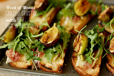 FoodieCrush Magazine Week of Menus Brie Fig Crostini