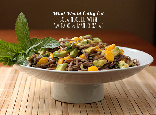 FoodieCrush Magazine What Would Cathy Eat Soba Noodle Avocado Salad