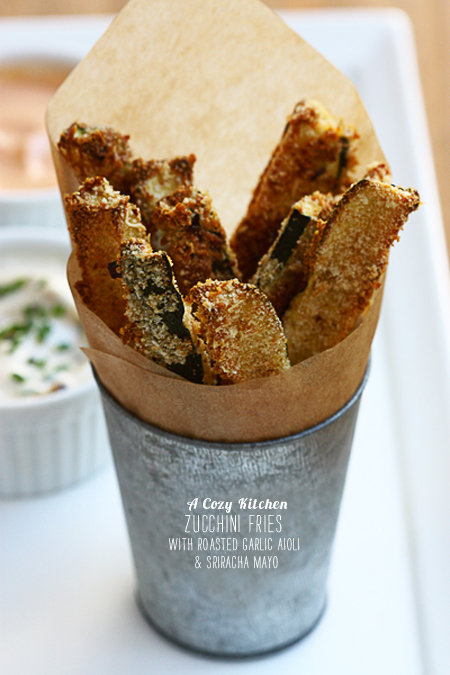 FoodieCrush Magazine A Cozy Kitchen Zucchini Fries