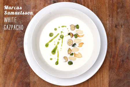 Foodie Crush Magazine Marcus Samuelsson White Gazpacho