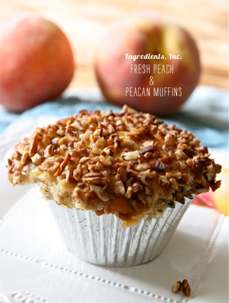 FoodieCrush Magazine Ingredients Inc Fresh Peach Pecan Muffin