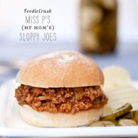 Sloppy Joe Recipe | foodiecrush.com