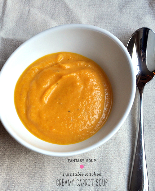 FOodie Crush Magazine Turntable Kitchen Carrot Soup