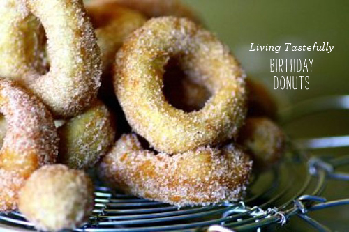 FoodieCrush Magazine Living Tastefully Birthday Donuts