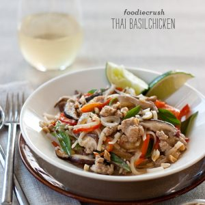 Thai Basil Chicken | Foodiecrush.com