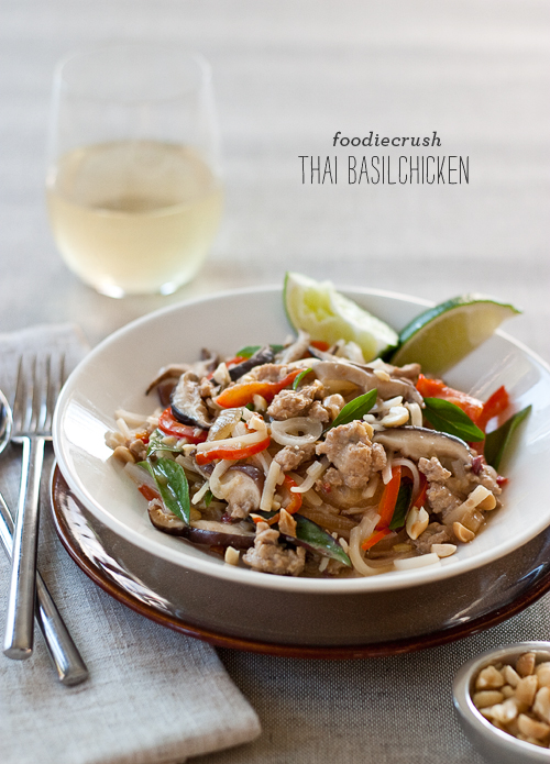 FoodieCrush Thai Basil Chicken