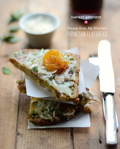 Foodie Crush Verses from My Kitchen Parmesan Flatbread