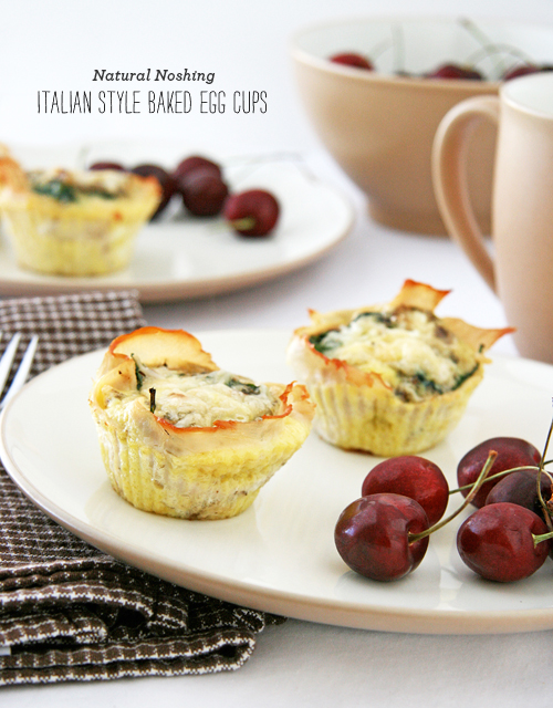 FoodieCrush Magazine Natural Noshing Italian Style Baked Egg Cups