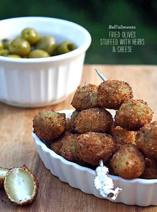 FoodieCrush Bellalimento Fried Olives Stuffed with Ricotta
