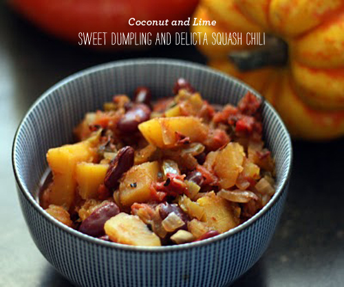 FoodieCrush Coconut and Lime Delicta Squash Chili