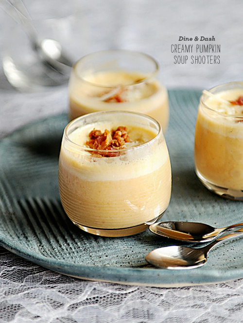 FoodieCrush Magazine Dine and Dish Pumpkin Soup Shooters