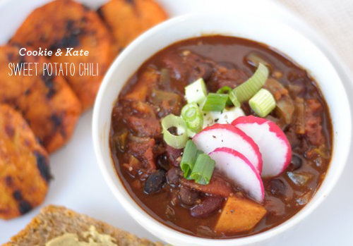 FoodieCrush Cookie &amp; Kate Sweet Potato Chili Recipe