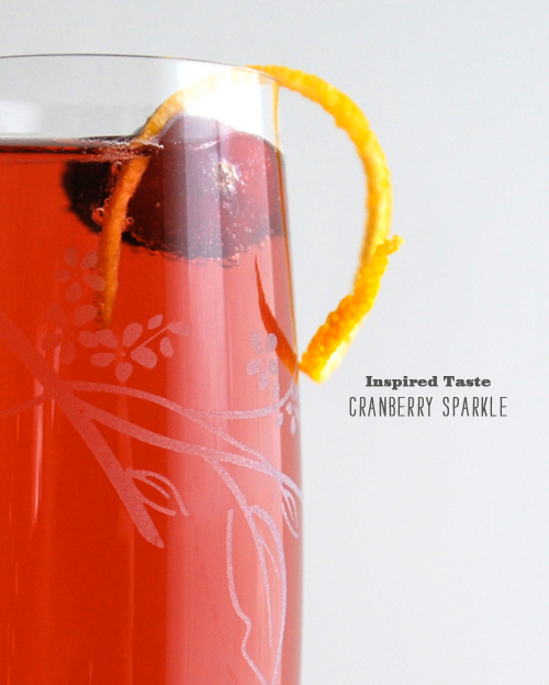 FoodieCrush Magazine Inspired Taste Cranberry Champagne