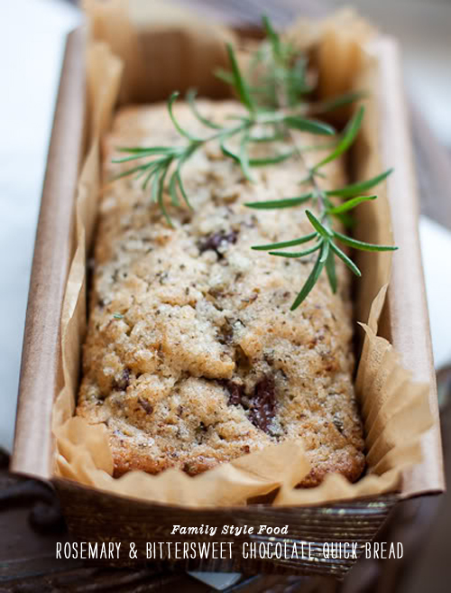 FoodieCrush Family Style Food Rosemary Chocolate Bread