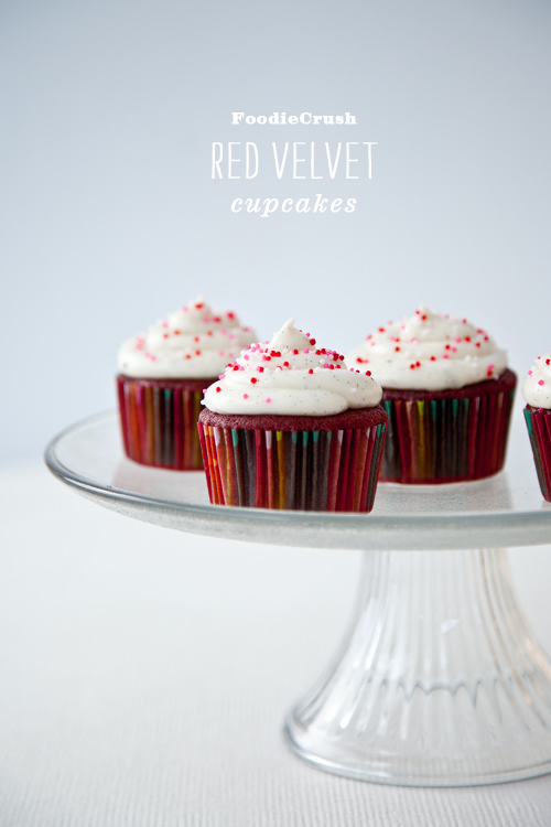Red Velvet Cupcakes with Cream Cheese Frosting | foodiecrush.com