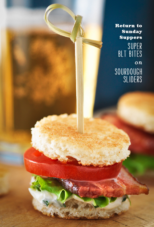 Foodie Crush Return to Sunday Suppers Super BLT Bites