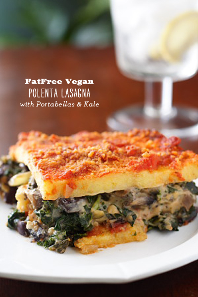 FoodieCrush FatFree Vegan Polenta Lasagna