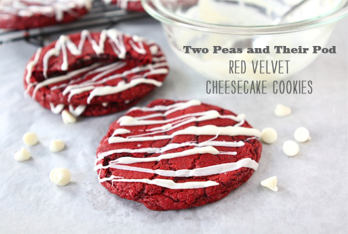 Foodie Crush magazine Two Peas and Their Pod Red Velvet Cheesecake Cookies