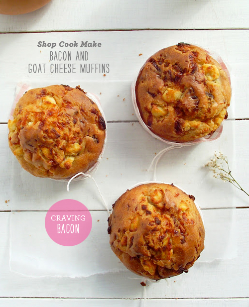 Foodie Crush Shop Cook Make Bacon Goat Cheese Muffin