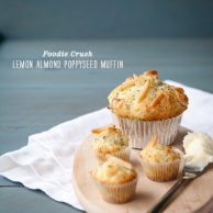 Foodie Crush Lemon Poppyseed Almond Muffin