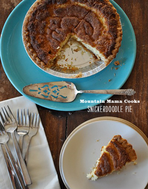 Foodie Crush Mountain Mama Cooks Snickerdoodle Pie