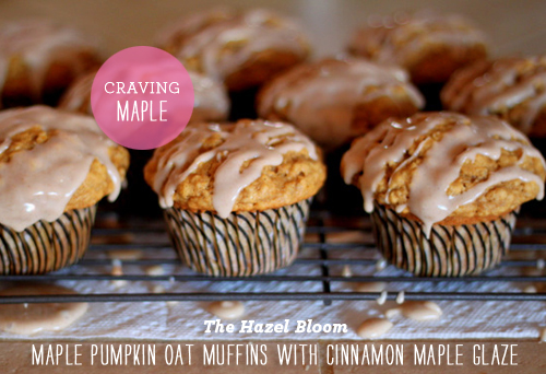 Foodie Crush The Hazel Bloom Pumpkin oat Muffin with Maple Glaze
