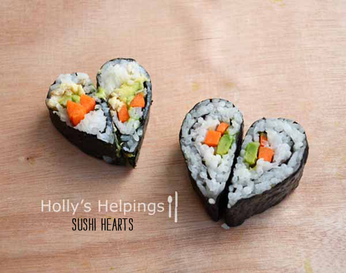 Foodie Crush Holly's Helpings Heart Shaped Sushi