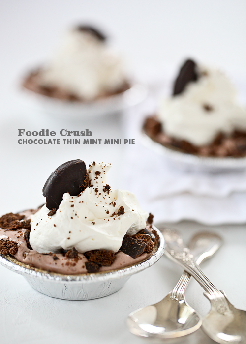 Chocolate Thin Mint Mini Pie