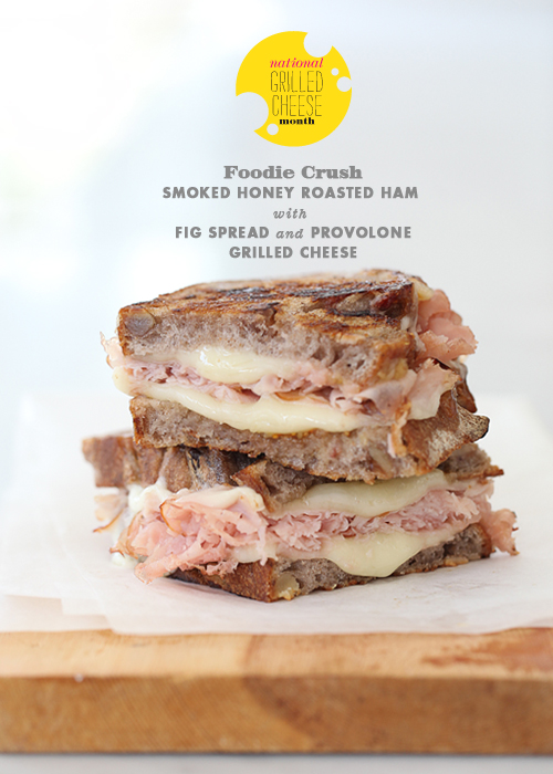Post image for Craving > Honey Smoked Ham with Fig Spread Grilled Cheese