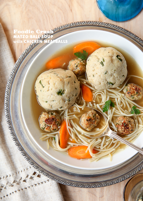 Post image for Craving > Matzo Ball Soup with Chicken Meatballs and Homemade Chicken Broth Recipe