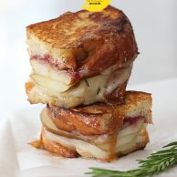 Sweet Pear and Rosemary Honey with Havarti Grilled Cheese
