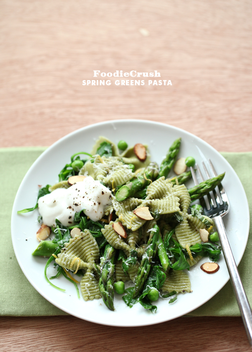 Post image for Craving > Spring Greens Asparagus and Ricotta Pasta