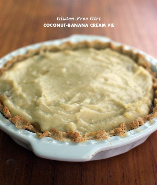 Gluten-Free Girl Coconut Banana Cream Pie
