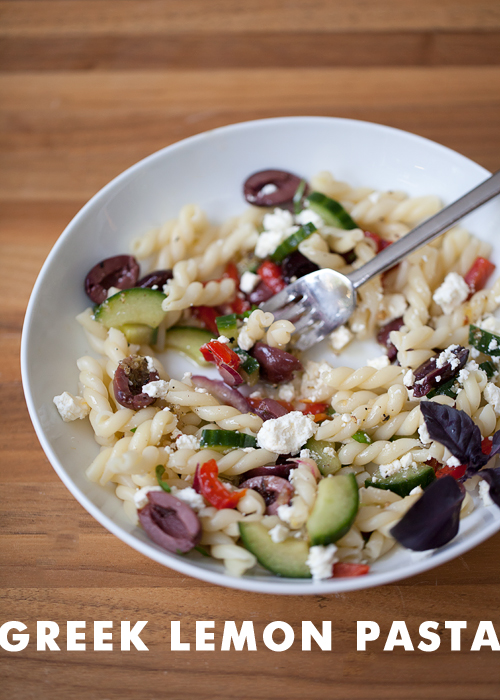 Foodie Crush Greek Lemon Pasta Salad