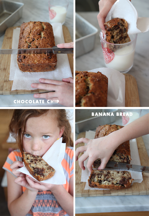 Foodie Crush Chocolate Chip Banana Bread